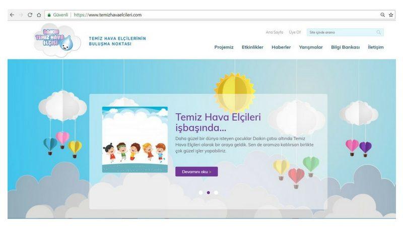 Çocuklar için web sitesi